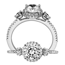 Elegant Three Stone Bella Vita Collection Ritani Ring