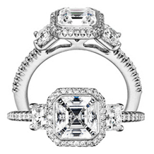 Stunning Ritani Bella Vita Collection Diamond Ring
