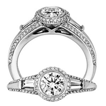 Exquisite Bell Vita Collection Diamond Engagement Ring