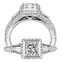 Alluring Bella Vita Diamond Engagement Ring by Ritani
