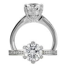Elegant Ritani Setting Diamond Engagement Ring