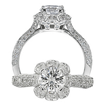 Floral by Ritani Diamond Engagement Ring