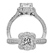 Dazzling Floral by Ritani Diamond Engagement Ring