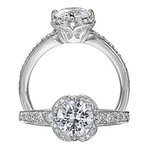 Stylish Floral by Ritani Diamond Engagement Ring