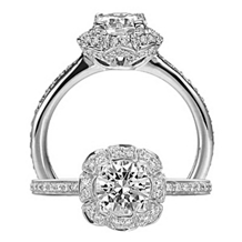 Alluring Floral by Ritani Diamond Engagement Ring