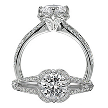 Alluring Floral By Ritani Collection Engagement Ring