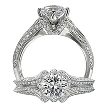 Exquisite Floral By Ritani Diamond Engagement Ring