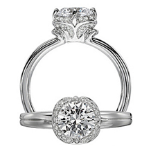Elegant Floral By Ritani Collection Diamond Ring