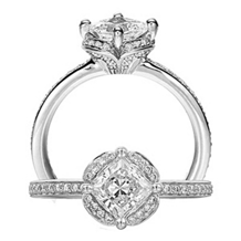 Stunning Diamond Engagement Ring Floral by Ritani