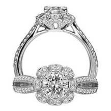 Dazzling Engagement Ring from Floral by Ritani