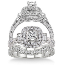 Alluring 1 Carat Diamond Wedding Set