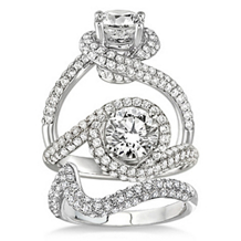 Beautiful Complete Diamond Wedding Set 14k White Gold
