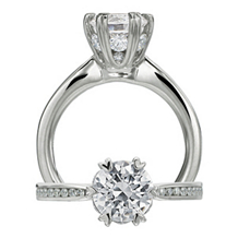 Gorgeous Ritani Setting Diamond Engagement Ring