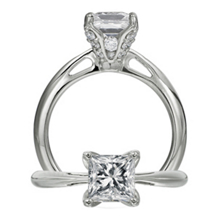 Gorgeous Ritani Setting Princess Cut Engament Ring