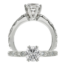 Breathtaking Ritani Setting Diamond Engagment Ring