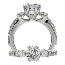 Stunning Ritani Setting Diamond Engagement Ring