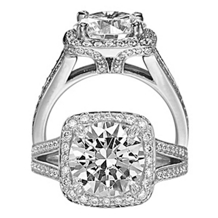 Alluring Masterwork Diamond Engagement Ring