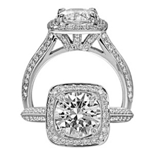 Exquisite Ritani Masterwork Diamond Engagement Ring