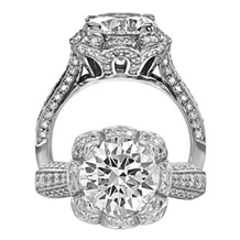 Lovely Ritani Masterwork Diamond Engagement Ring