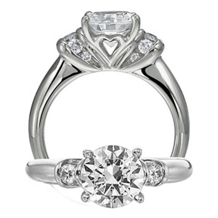 Dazzling Diamond Ritani Modern Engagement Ring