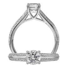 Handsome Modern Engagement Ring by Ritani