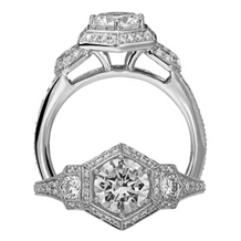 Elegant Ritani Diamond Modern Engagement Ring