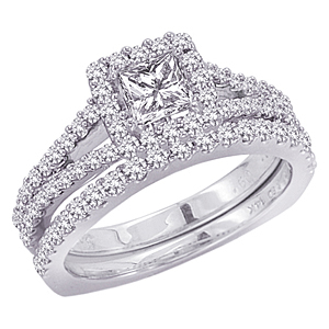 Gorgeous 2 Carat Diamond Wedding Set