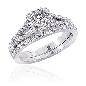 1/2 Carat Diamond Wedding Set