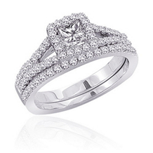 Beautiful 1/2 Carat Diamond Wedding Set