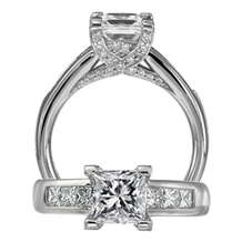 Stunning Modern Collection Diamond Engagement Ring