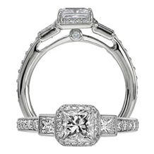 Elegant Modern Engagement Ring by Ritani