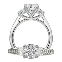 Ritani Three Stone Modern Engagement Ring