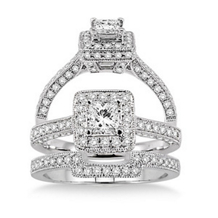 1 Carat Complete Diamond Wedding Set