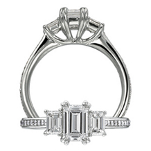 Three Stone Classic Engagement Ring by Ritani