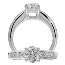 Dazzling Diamond Ritani Classic Engagement Ring