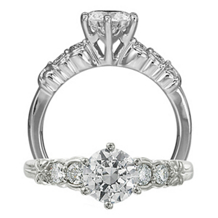 Five Stone Classic Engagement Ring by Ritani