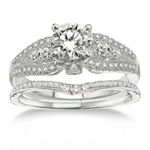 3/4 Ct. Diamond Engagement Ring and Band Set