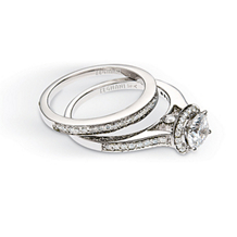 14k White Gold Zeghani Wedding Set