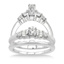 Diamond Wedding Set with 1/2 Ct. Engagement Ring