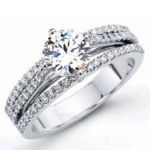 Simon G. LA Angel Diamond Engagement Ring