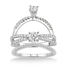 Stunning 5/8 Ct. Diamond Engagement Ring and Band Set