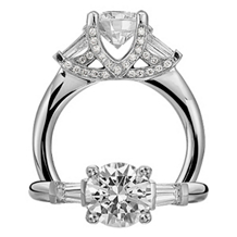 Dazzling Ritani Classic Diamond Engagement Ring