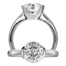 Classic Half Bezel Solitaire Engagement Ring by Ritani