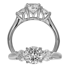 Classic Three Stone Diamond Engagement Ring by Ritani