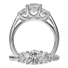 Dazzling Ritani Three Stone Classic Engagement Ring