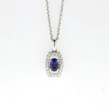 Alluring Alexandrite and Diamond Pendant