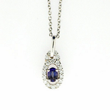 Elegant Alexandrite and Diamond Pendant