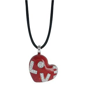 Belle Etoile Love Enamel Necklace