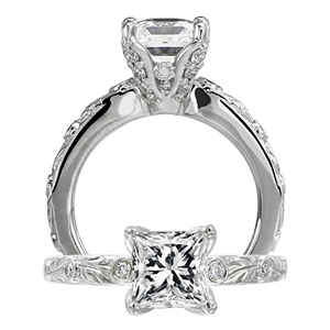 Ritani Romantique Designer Diamond Engagement Ring