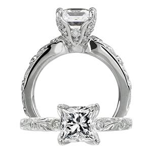 Ritani Romantique Designer Diamond Engagement Ring